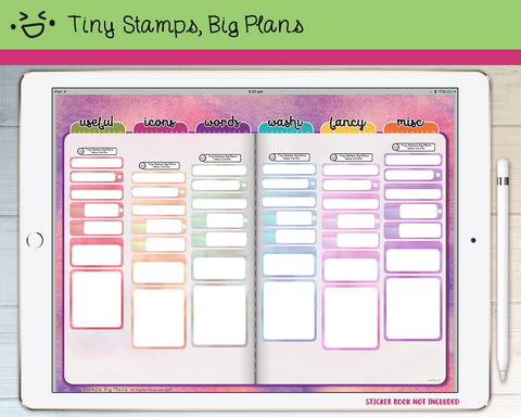 Digital Stickers - Digital stickers - blank holo - Tiny Stamps Big Plans
