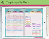 Digital Stickers - Digital stickers - holo washi, banners and tracking dots - Tiny Stamps Big Plans