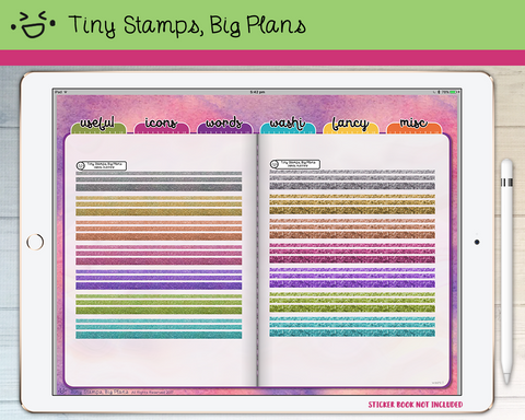 Digital Stickers - Digital stickers - glitter washi strips - Tiny Stamps Big Plans