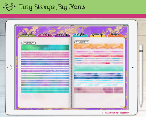 Digital Stickers - Digital stickers - foil and watercolour washi strips - Tiny Stamps Big Plans