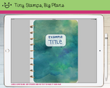 Digital Planner - Digital covers for Goodnotes planners - Watercolour and label - Tiny Stamps Big Plans