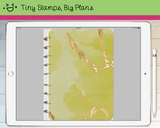 Digital Planner - Digital covers for Goodnotes planners - Watercolour with gold streaks, no label - Tiny Stamps Big Plans