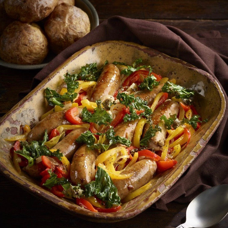 Skillet Sausage with Peppers