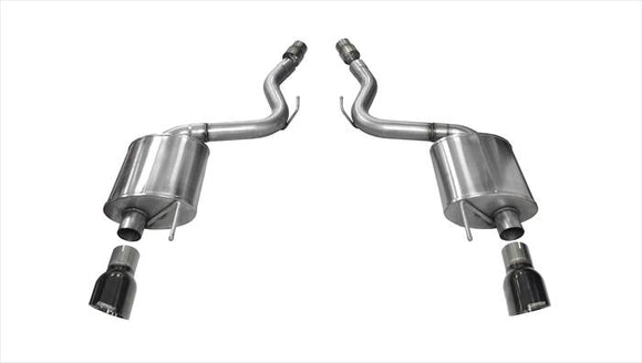 Corsa 2015 Ford Mustang GT 5.0 3in Axle Back Exhaust Black Dual Tips (Touring)