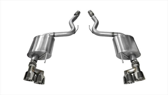 Corsa 15-16 Ford Mustang GT 5.0 3in Axle Back Exhaust Polish Quad Tips (Touring)