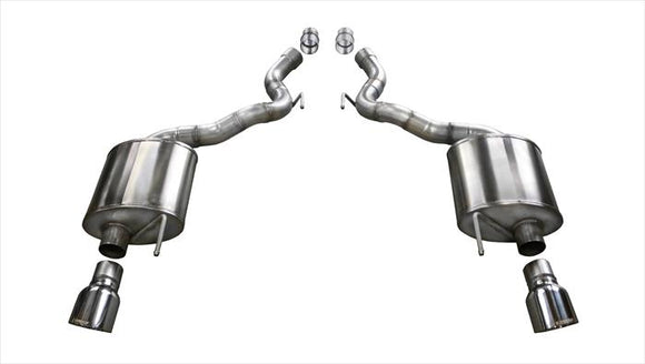 Corsa 15-16 Ford Mustang GT Convertible 5.0L V8 Polished Touring Axle-Back Exhaust