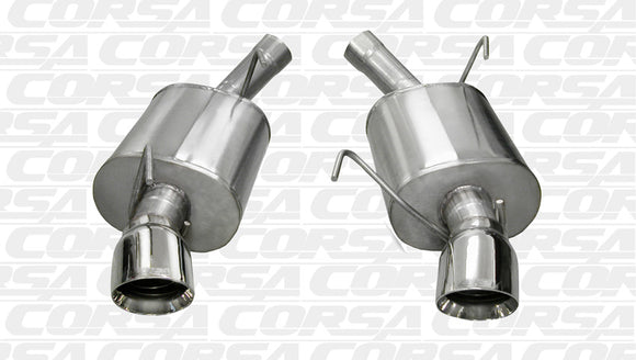 Corsa 05-10 Ford Mustang Shelby GT500 5.4L V8 Polished Sport Axle-Back Exhaust