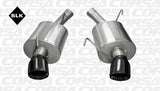 Corsa 05-10 Ford Mustang Shelby GT500 5.4L V8 Black Xtreme Axle-Back Exhaust