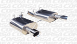 Corsa 11-13 Ford Mustang V6 3.7L V6 Polished Sport Axle-Back Exhaust