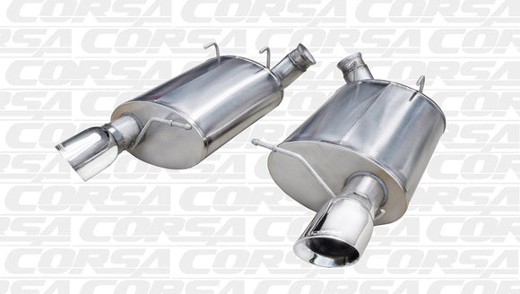 Corsa 11-12 Ford Mustang Shelby GT500 5.4L V8 Polished Sport Axle-Back Exhaust