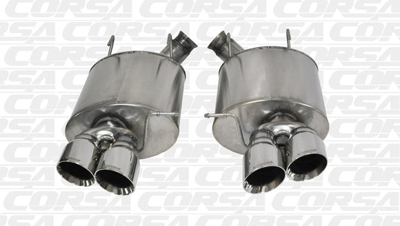 Corsa 13-13 Ford Mustang Shelby GT500 5.8L V8 Polished Sport Axle-Back Exhaust