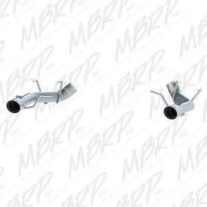 MBRP 2011-2014 Ford Mustang GT 3in Dual Axle Back Muffler Delete - T304