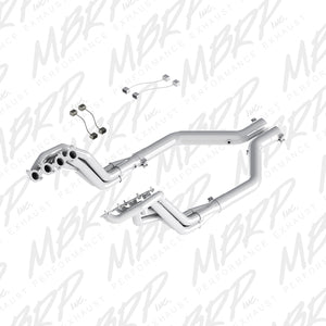 MBRP 2015 Ford Mustang GT 5.0 T304 3in Header Mid Pipe Kit