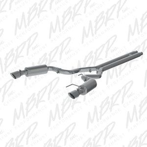 MBRP 15 Ford Mustang GT 5.0 Convertible Alum 3in Cat Back Dual Split Rear Exit (Street Version)