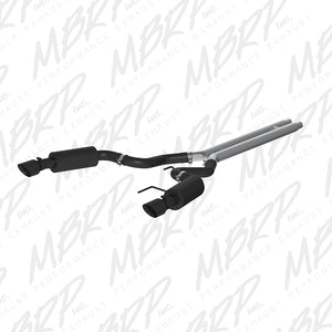 MBRP 15 Ford Mustang GT 5.0 Convertible Black 3in Cat Back Dual Split Rear Exit (Street Version)