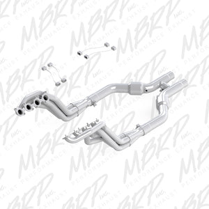 MBRP 11-14 Ford Mustang GT 5.0 T304 3in Header H Pipe Kit w/ Cats