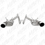 MBRP 11-13 Ford Mustang V6 Dual Split Rear T409 Cat Back Exhaust System