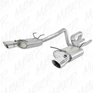 MBRP 11-13 Ford Mustang V6 Dual Split Rear Alum Cat Back Exhaust System