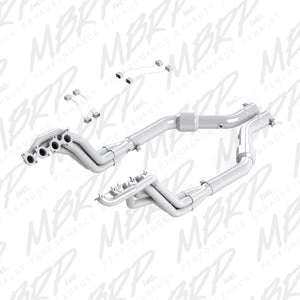 MBRP 2015 Ford Mustang GT 5.0 T304 3in Header Mid Pipe Kit w/ Cats