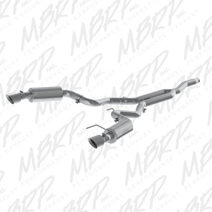 MBRP 15 Ford Mustang EcoBoost 2.3L Alum 3in Cat Back Dual Split Rear Exit (Street Version)
