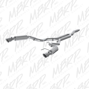 MBRP 15 Ford Mustang EcoBoost 2.3L Alum 3in Cat Back Dual Split Rear Exit (Race Version)