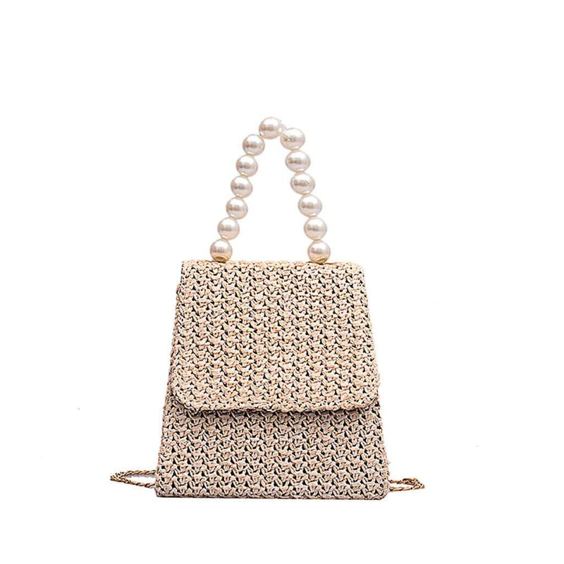 Epicplacess Bags Beige / United States / Mini(Max Length<20cm) Making Pearl Woven Mini Bag
