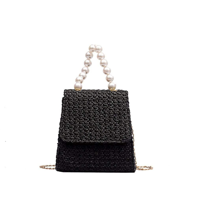 Epicplacess Bags Black / United States / Mini(Max Length<20cm) Making Pearl Woven Mini Bag