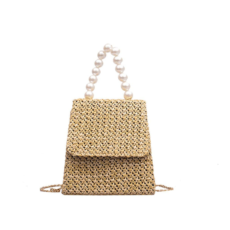 Epicplacess Bags Khaki / United States / Mini(Max Length<20cm) Making Pearl Woven Mini Bag