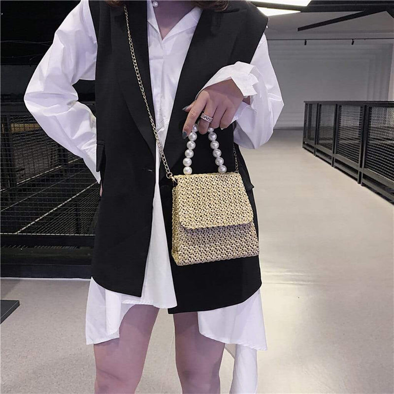Epicplacess Bags Making Pearl Woven Mini Bag