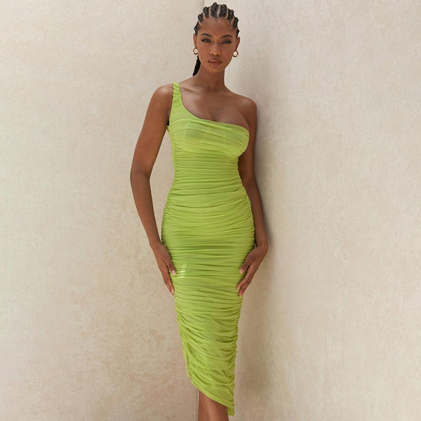 Epicplacess dress green / S Meant To Be Mesh Midi Dress