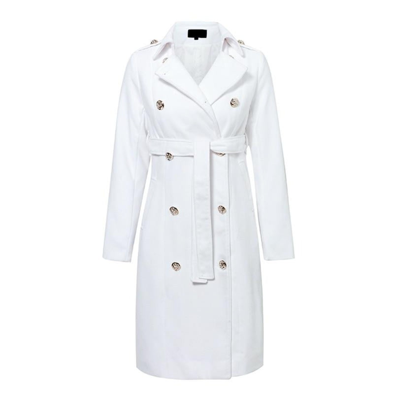 Epicplacess jacket white / S Gimme A Clue Faux Leather Trench Coat