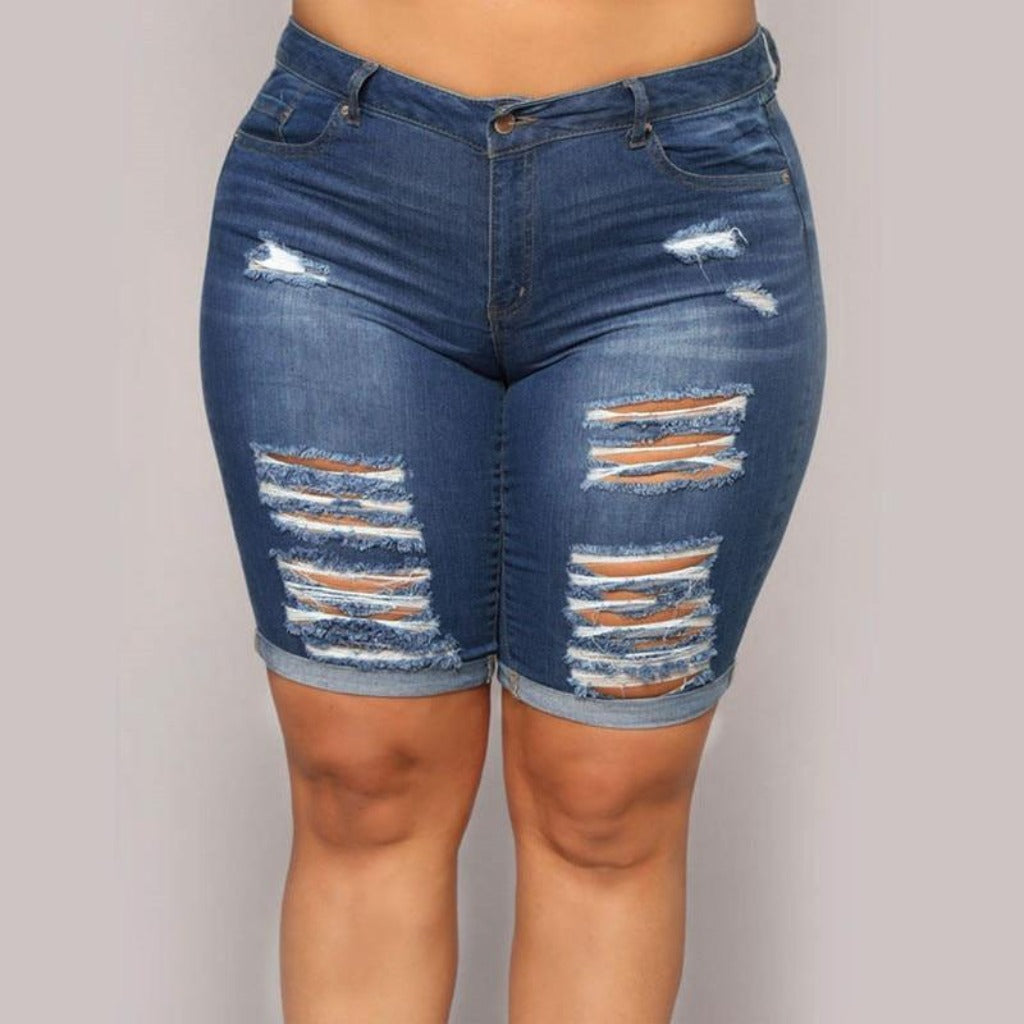 Epicplacess JEANS dark blue / L Everything's Good Denim Shorts