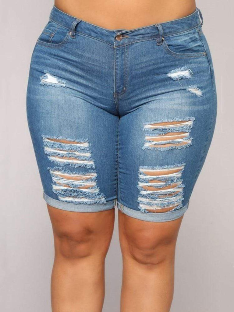 Epicplacess JEANS navy blue / L Everything's Good Denim Shorts