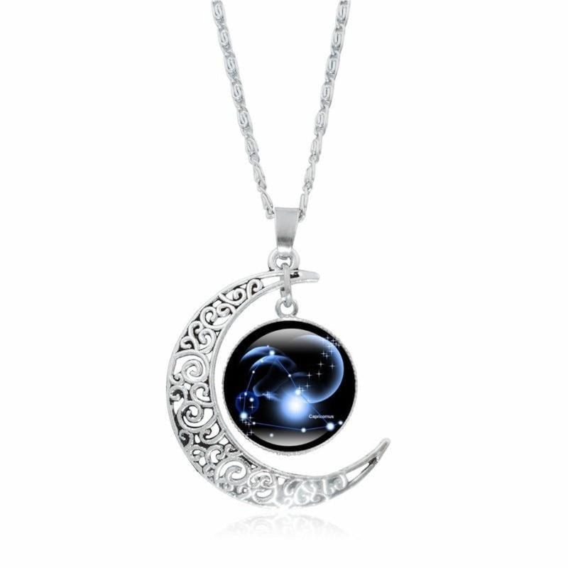 Epicplacess Jewelry A / United States Crystal Pearl Moon Necklace