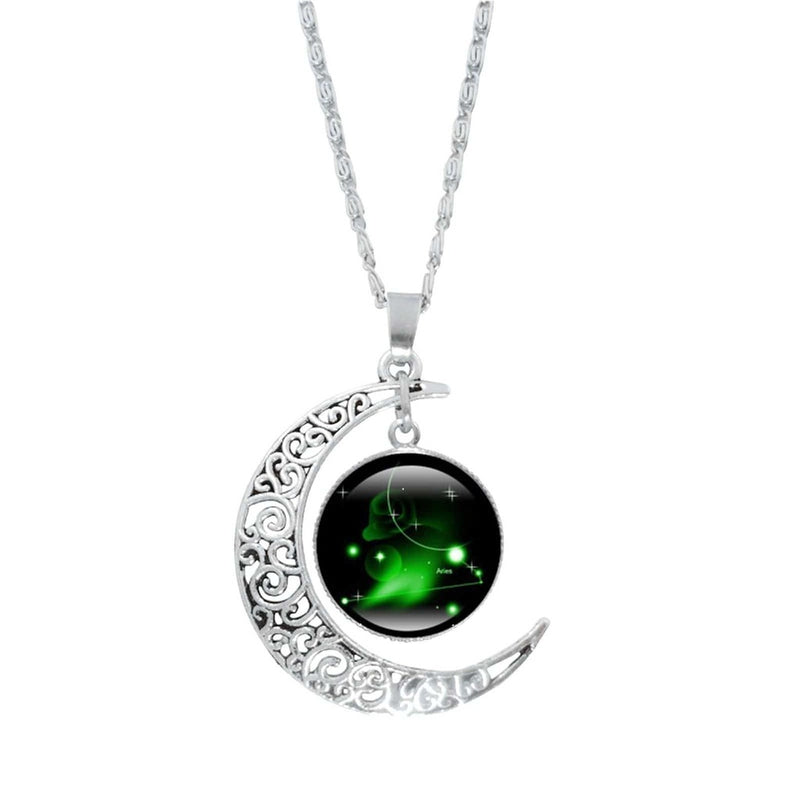 Epicplacess Jewelry C / United States Crystal Pearl Moon Necklace