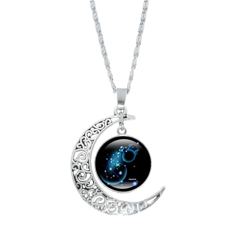 Epicplacess Jewelry E / United States Crystal Pearl Moon Necklace