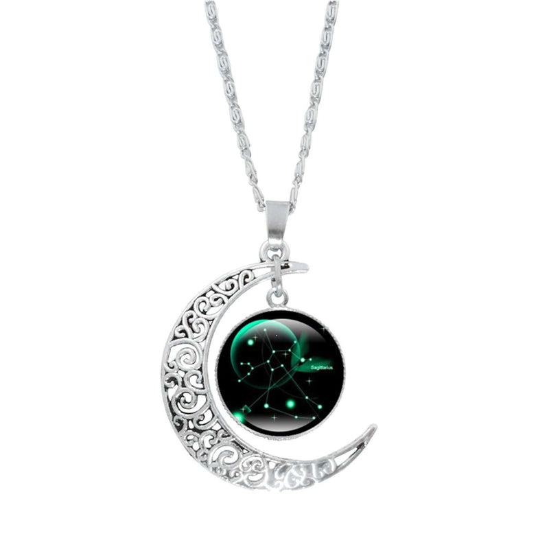 Epicplacess Jewelry F / United States Crystal Pearl Moon Necklace