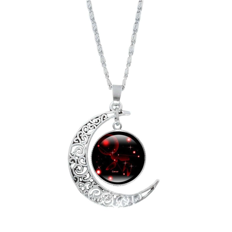 Epicplacess Jewelry G / United States Crystal Pearl Moon Necklace