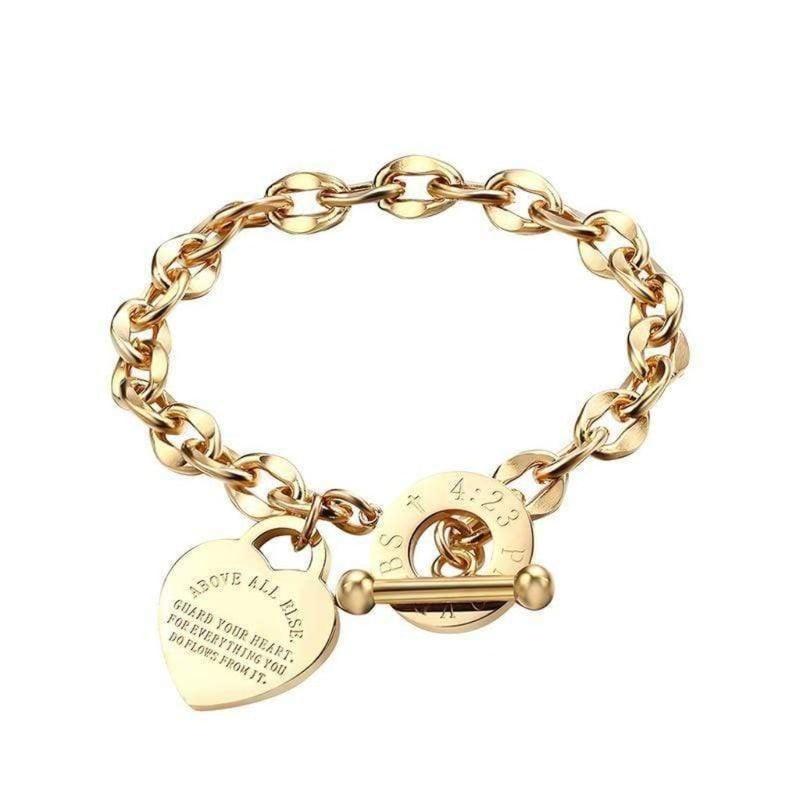 Epicplacess Jewelry golden / United States Eternal Love Rose Gold Bracelet