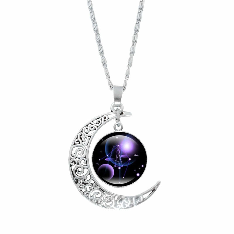 Epicplacess Jewelry H / United States Crystal Pearl Moon Necklace