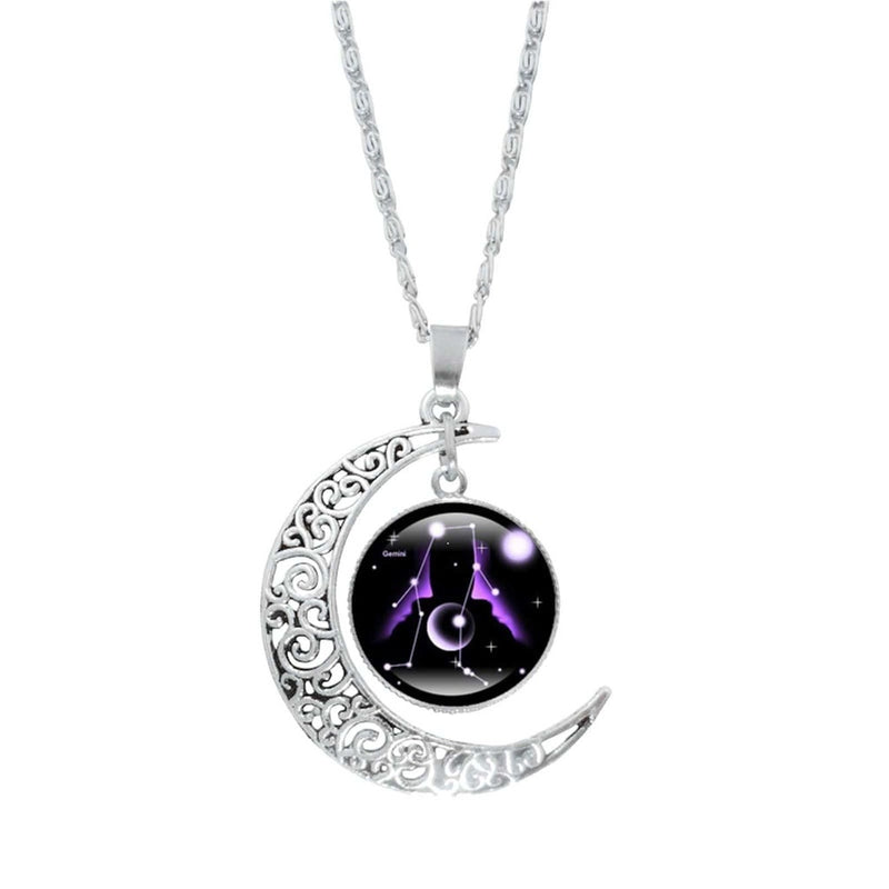 Epicplacess Jewelry I / United States Crystal Pearl Moon Necklace