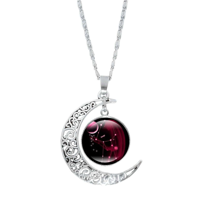 Epicplacess Jewelry L / United States Crystal Pearl Moon Necklace