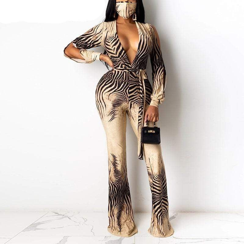 Epicplacess Jumpsuit Khaki / S Painted Perfection Jumsuit