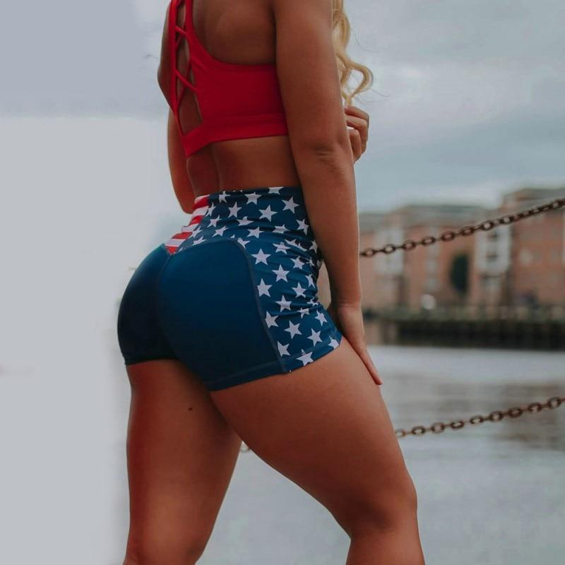 Epicplacess Shorts American Flag High Waist Shorts