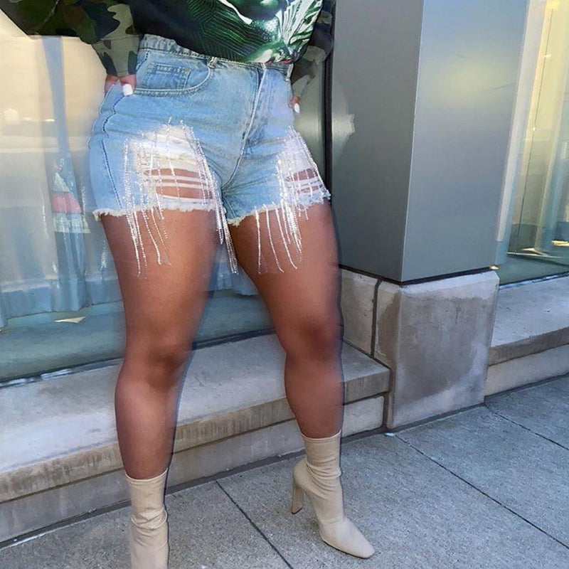 Epicplacess Shorts Blue / S / United States Hot Girl Summer Ripped Shorts