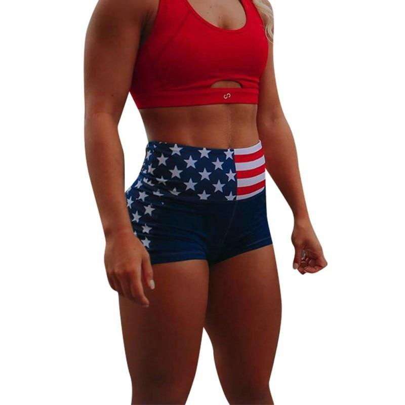 Epicplacess Shorts S / United States American Flag High Waist Shorts
