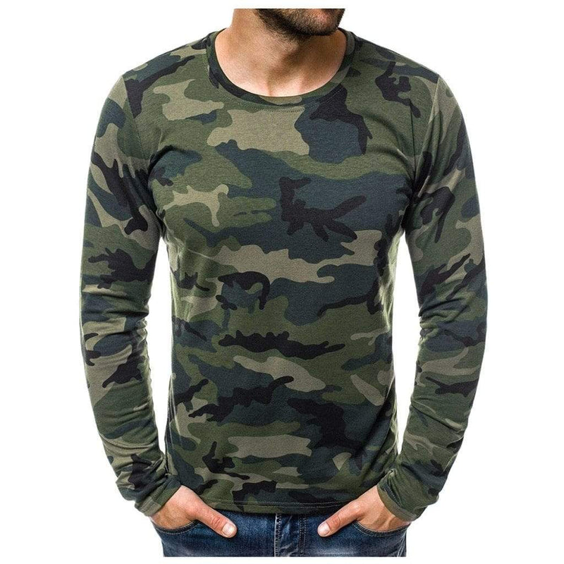 Epicplacess T-Shirts Army Green / S / United States Tee Male Hiphop Long Sleeve- T Shirt