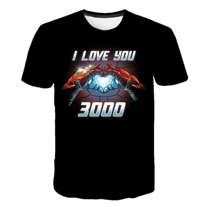 Epicplacess T-Shirts picture color_350850 / L Iron Man I Love You 3000