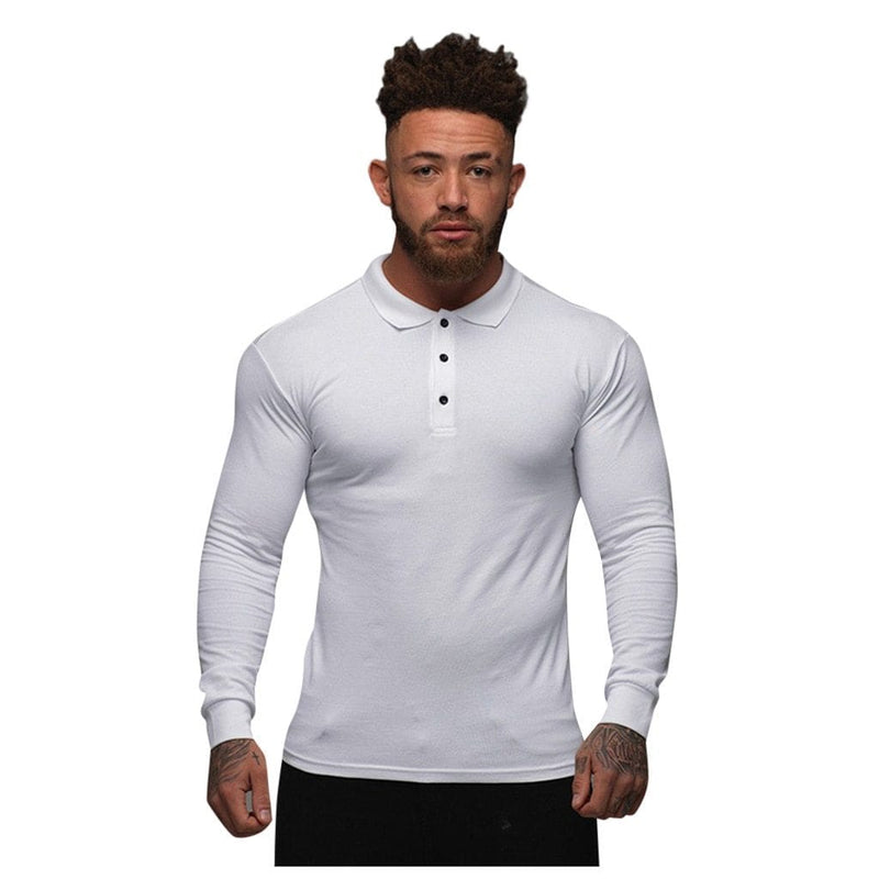 Epicplacess T-Shirts White / XXL / United States_Pack of 1 Stretch Tight Long Sleeve Tee