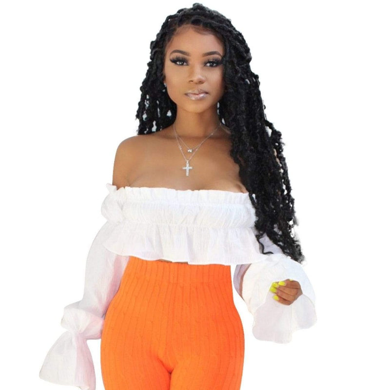 Epicplacess TOP She's So Fierce Crop Top - White